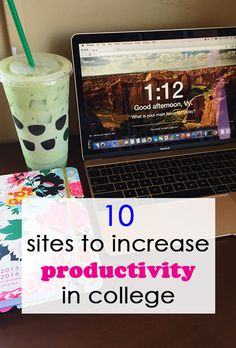 10 Websites to Increase Productivity for College Students (btw highly recommend college info geek and his you tube channel it's amazing! College Years, College Girls, College Life, Study College, College Success, Academic Success, Student Success, College Agenda, College Binder