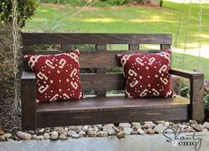 Make your own porch swing. Perfect addition to your outdoor space