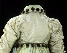 Detail of dress and spencer, dated 1807-1810, Great Britain. V&A: # T.60&A-1962. Prick-stitching of all back seams.
