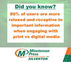 People who say print marketing is dead have it dead wrong. It's been proven that people are more receptive to printed material than the digital advertising with which they are bombarded all day every day. Long Live, Digital Media, Did You Know, Advertising, Facts, Marketing, Printed, Sayings, Quotes