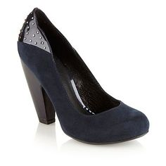 50ef5559970 Navy mock suede high heel court shoes - High heel shoes - Shoes   boots -  Women -