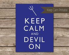 Keep Calm College Football Printable- Duke University // DIY Printable on Etsy, $3.00