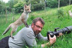カメラマンと動物達