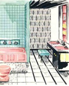 Lovely Pink Vintage Bathroom!! | Vintage Loves | Pinterest | Vintage  Bathrooms And Mid Century Part 61