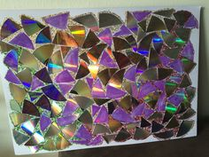 2nd project for recycled cd's w/glitters❤️