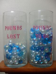 I got this idea from Pinterest. I have a Weight Loss Support Group on Facebook and make these for the winner of our monthly challenge. They are great motivators!