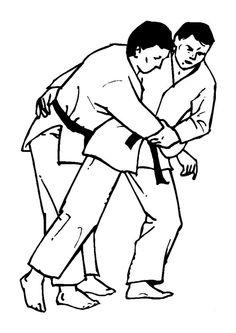 Prise de judo à colorier