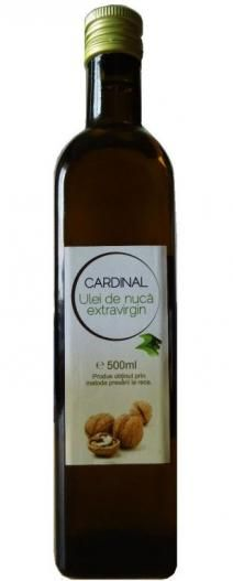 Ulei de nuca 500ml in ambalaj de sticla - 2e-prod.ro  Cardinal – ulei presat l arece extravirgin de nuca este un ulei 100% natural, ulei presat la rece din miez de nuca uscat, cu o aroma fina de nuca, perfecta pentru dressing-uri, sau pentru a asezona peste sau fripturi, si chiar pentru deserturi. Whiskey Bottle, Drinks, Recipes, Food, Drinking, Beverages, Recipies, Essen, Drink