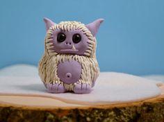 Nipsy the Purple Yeti  Cute Polymer Clay Monster by cutepocalypse, $20.00