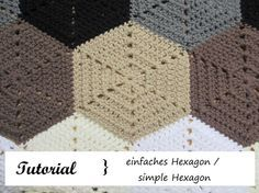 Sechseck häkeln / simple Hexagon - Häkeln macht glücklich // Crochet addict with no wish to stop