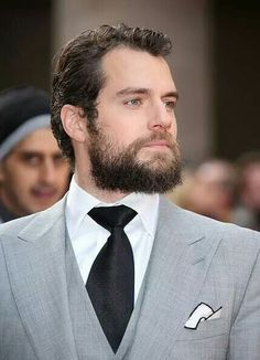 His beard is not nearly dense enough to keep at this length, but you can't go wrong with Henry Cavil...