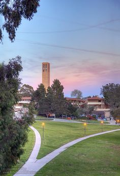 Storke Tower Walk. University of California, Santa Barbara.     Photographic Print.    http://www.BillHeller.com