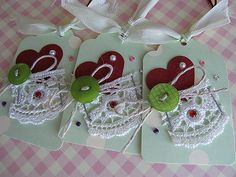 https://flic.kr/p/5SWZ7e | Sweet Heart tags | Handmade by me..