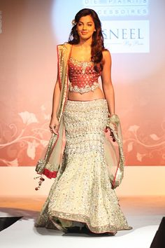 Mugdha Godse for Kisneel by Pam Mehta! Aline for Indian weddings