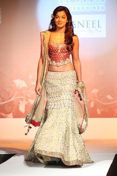 Mugdha Godse for Kisneel by Pam Mehta! Aline for Indian weddings