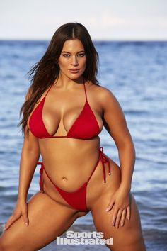 Ashley Graham was photographed by Josie Clough in Nevis. Swimsuit by Ola Vida.