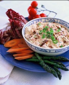 Barefoot Contessa's Sun-Dried Tomato Dip. My aunt brought this to Easter dinner and it was delicious!