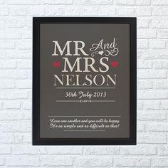 Mr & Mrs Framed Print - Home Full Of Dreams