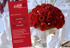 Color Monday: One Design in 6 Combos | Truly Engaging Wedding Blog - 1/2 sphere of red roses