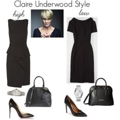 Spring & summer outfit idea for women over 40. Over 40 fashion. Inspiration for stylish women over 40. Featuring Claire Underwood style in black.