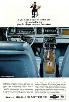 1966 Chevrolet Caprice Custom Coupe - If you hear a squeak in this car - Original Ad