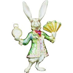 Kirk's Folly is pretty and collectible. This delightful pin is the white rabbit from the Alice in Wonderland Collection. It is a retired design. The