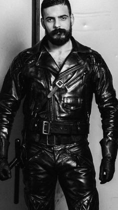Perfect fitting leather jackets at factory price. By using disruptive, direct to consumer model we cut all middleman and pass the saving to you. Mens Leather Pants, Leather Jacket Outfits, Motorcycle Leather, Leather Gloves, Leather Jackets, Hommes Sexy, Men In Uniform, Hairy Men, Sexy Men