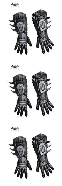 Halloween Costumes Men: Rubies Costume Mens Arkham City Deluxe Batman Gloves, Black, One ... BUY IT NOW ONLY: $33.58