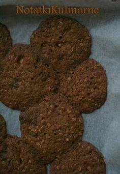 Ciastka owsiane z dynią, białą czekoladą, żurawiną i wiśniami