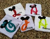 Custom Applique Mickey Initial