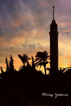 #egypt #cairo_tower #cairo_tower #cairo #thisisegypt #photographybyme #travel #places #placestovisit #sunset #Ruby_zakaria_photography #القاهره #برج_القاهرة #مصر  #تصويري #غروب