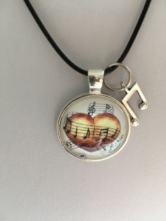Here is a stunning music necklace to offer as a gift to someone who plays music or for yourself Music Necklace, Music Jewelry, Jewelry Gifts, White Pearl Necklace, Black Necklace, Teal Jewelry, Amethyst Gemstone, Sterling Silver Pendants, Music Lovers