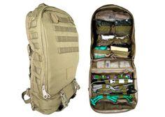 $325.00 Standard Light Infantry Medic™ (SLIM™) Backpack, Coyote Brown :: Medical Bags & Packs :: TQS Home
