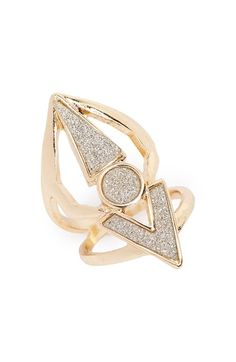 Topshop Glittery Ring available at #Nordstrom