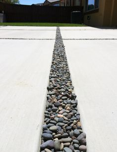 I like this idea to breakup the concrete. Perhaps for front walkway.