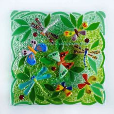 Fused glass bowl FOREST CLEARING | Fused glass - fusing