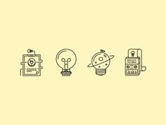 The Idea Outline Icons 25 by last spark #Design Popular #Dribbble #shots