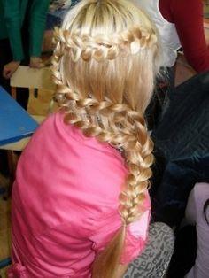 Freakin' Awesome. Love.  #hair #updo #braid #hairstyle