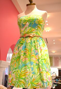 Lilly Pulitzer Richelle Strapless Tie Back Dress