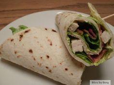 Bites by Berg: Wraps med kylling, bacon, salat og karrydressing
