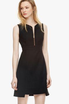 Vestido tubo con escote transparente vestidos adolfo for Adolfo dominguez outlet online