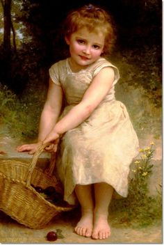 William Bouguereau - Plums Painting