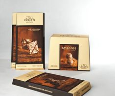 Violette Chocolatier - Branding ConceptThe objective of the project was to design a classic and memorable identity that can portray a strong visual brand for Belgian Chocolate Company. My intention was to create solid identity that is practical, clean, a… Luxury Chocolate, Chocolate Art, Belgian Chocolate, Chocolate Lovers, Chocolate Recipes, Chocolate Packaging, Coffee Packaging, Print Packaging, Packaging Design