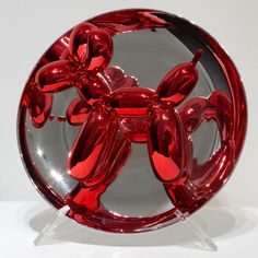 Jeff Koons - Balloon Dog (red) | From a unique collection of abstract sculptures at http://www.1stdibs.com/art/sculptures/abstract-sculptures/