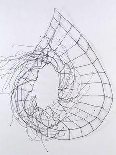 "nearlya:  Mari Andrews: Dervish, 2008,                      wire, 30 x 25 x 13"""