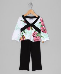 Take a look at this Very French Floral Surplice Top & Pants - Infant & Toddler by Mad Sky on #zulily today!