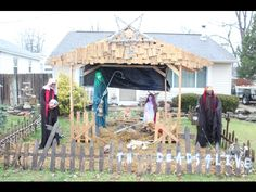 Yes, this is my Cincinnati. Sometimes it's a little weird.   Un-Holy Night - Zombie Nativity Scene