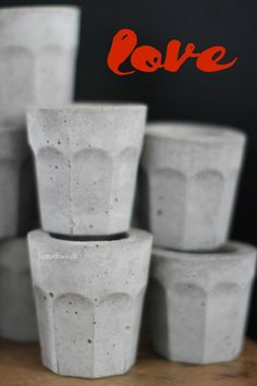 concrete DIY cups