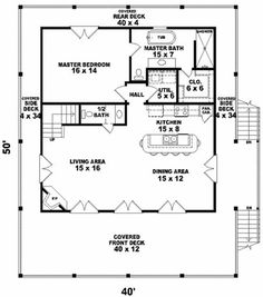 House plans coastal homes square feet Ideas for 2019 Cottage House Plans, Dream House Plans, Small House Plans, Cottage Homes, House Floor Plans, One Bedroom House Plans, Cottage Living, Coastal Cottage, Coastal Homes