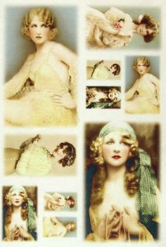 Ricepaper Decoupage paper, Scrapbooking Sheets Old Pictures Blondes